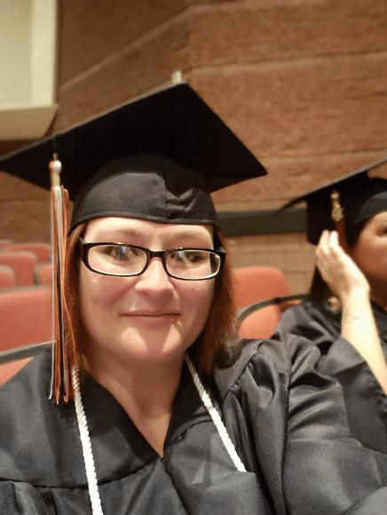Janell Crose-Myer graduating