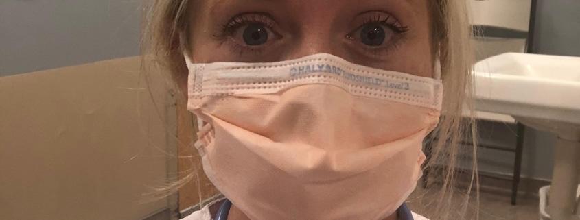 Megan Ryan in scrubs