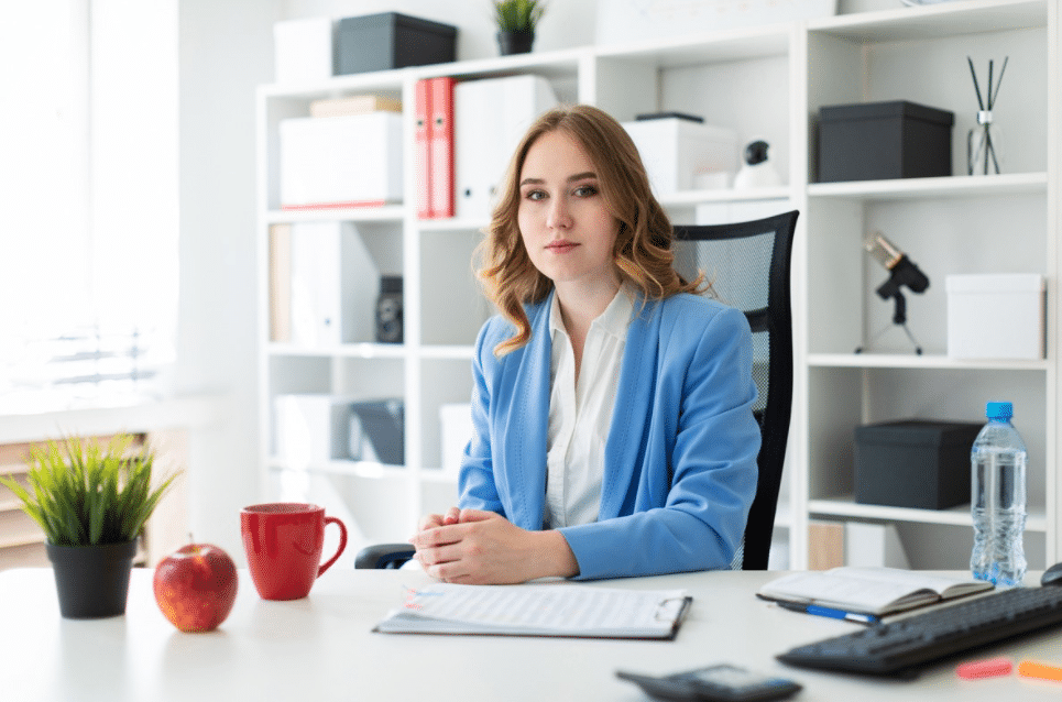 Female professional at a desk