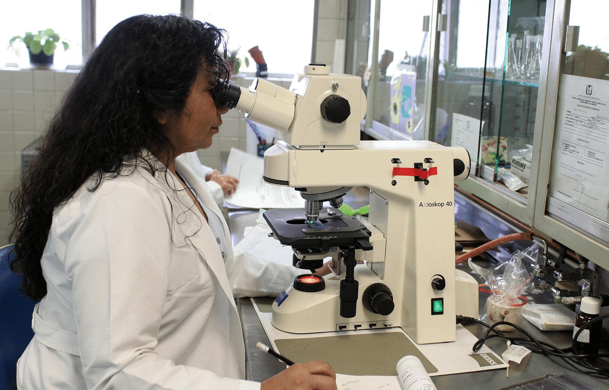 Female lab professional