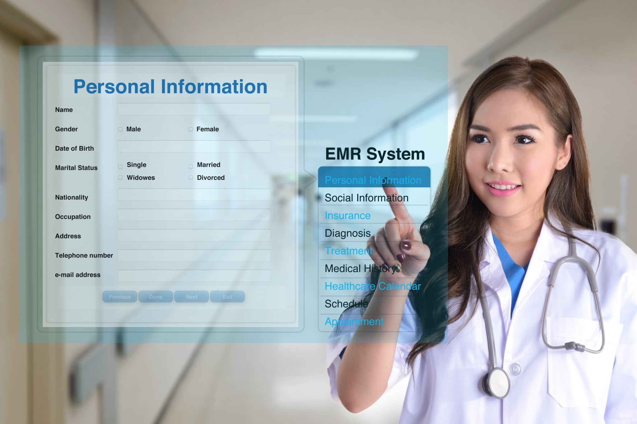 Medical Office Assistant using a virtual system